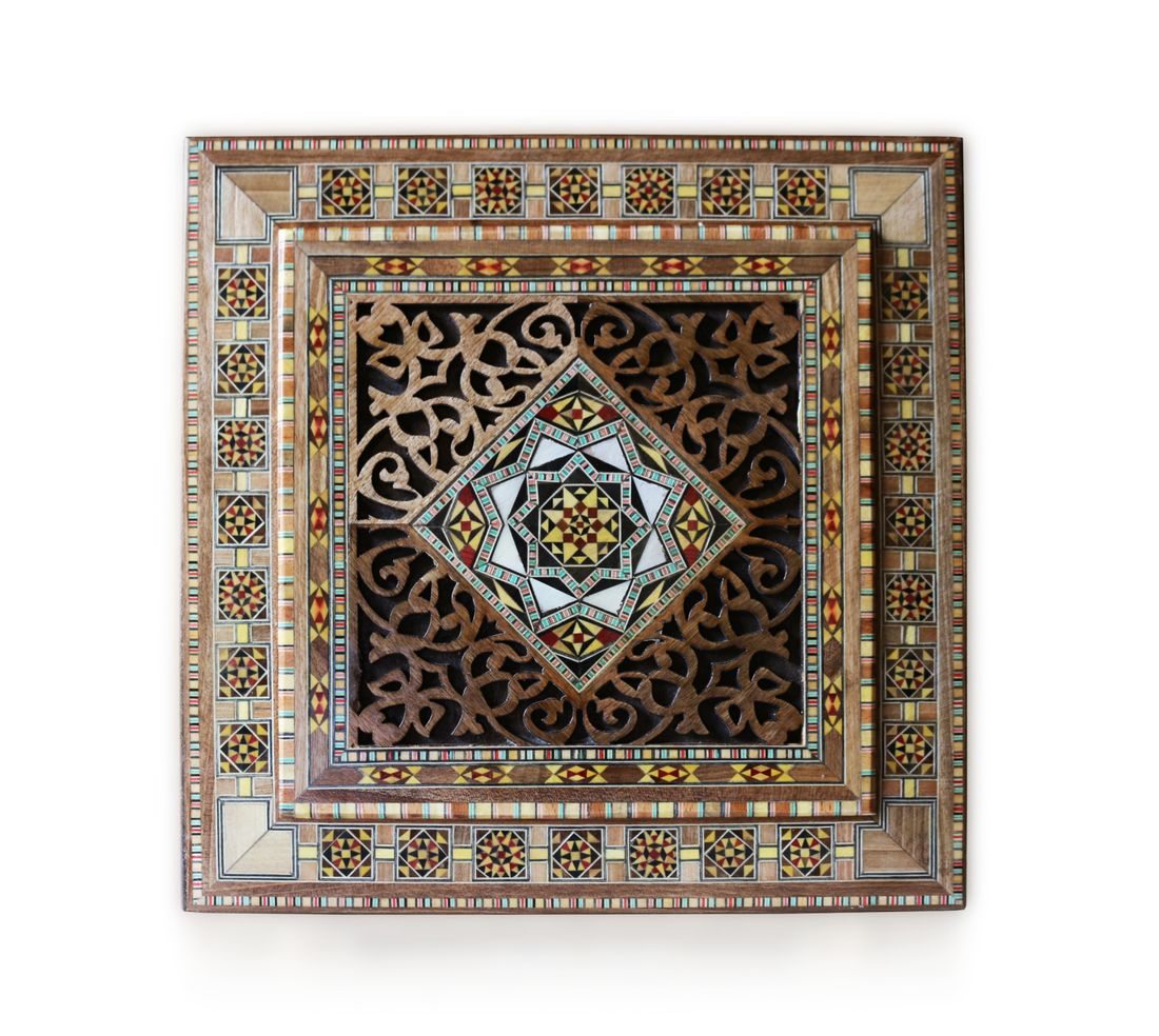 Schmuckkasten Holzschatulle,Box,Kästchen,Mosaik Kunsthandwerk Damaskunst K 22-45
